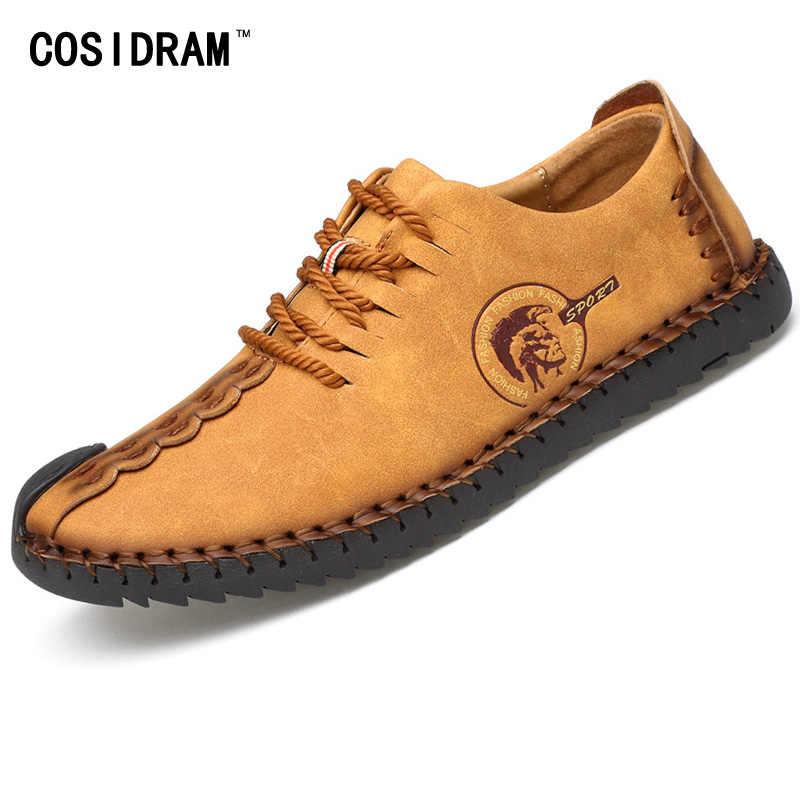 Брендовая дизайнерская мужская повседневная обувь; Мужская обувь из натуральной кожи; модная мужская обувь; сезон весна-осень; коллекция 2017 года; сезон весна-осень; RMC-745 на плоской подошве
