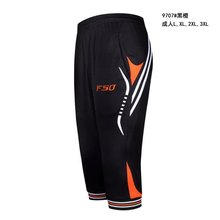 2016 Summer Mens Jogging Trousers Cropped 3/4 soccer pants Breathable sport running Training Pants Boy Soccer Trousers