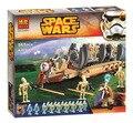 Star Wars 565 шт. 15 Мини блоки Боевой Дроид Войск перевозчик Бела Строительные Блоки, Совместимые с Лего Модели и Строительство игрушки