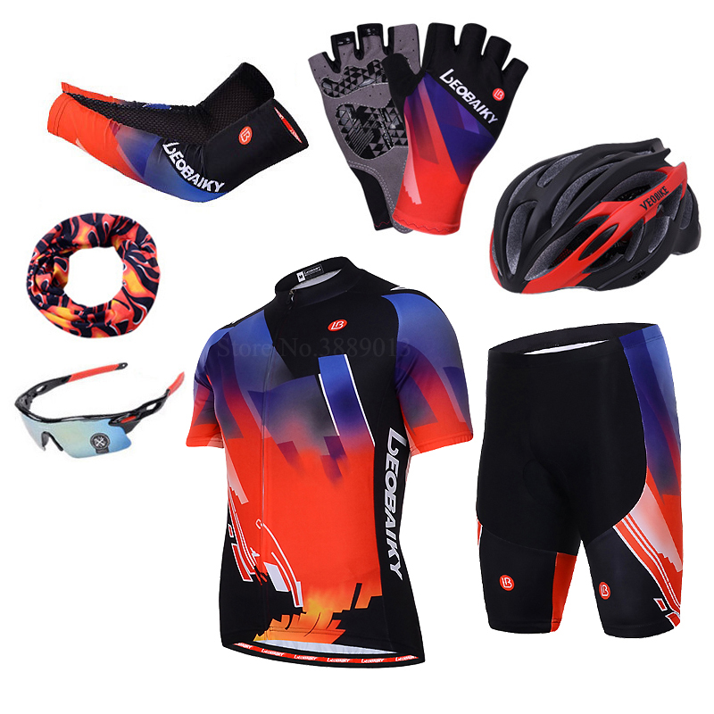Men 39 s Bicycle Jersey Set Cycling Clothing Men Summer Pro Team 2018 Road Bike Clothes Women Sport Uniform Short Sleeves MTB Wear in Cycling Sets from Sports amp Entertainment