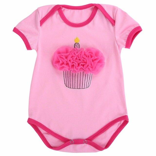 3D Birthday Cake Baby Girl Newborn Clothes Bebes Bodysuit Twins