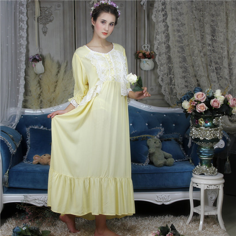 5 Colors Vintage Arab Long Cotton Nightgowns For Women Victorian Night Medieval Sleepwear Robe Sleep Dress Loungewear Negliee