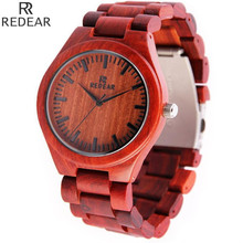 REDEAR903 all bamboo material luxury men's watch, watch of wrist of high-end brands, fashion quartz watch, archaize casual watch