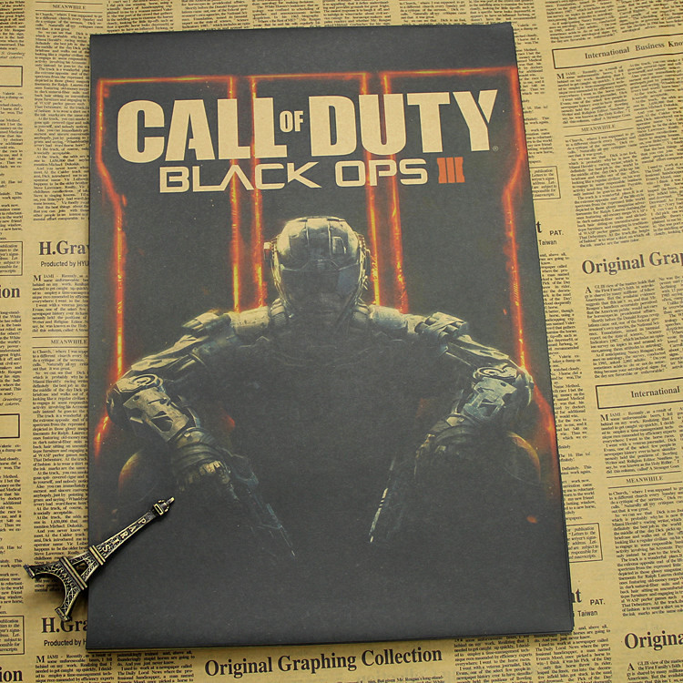 Call of Duty game Poster wall sticker kraft poster