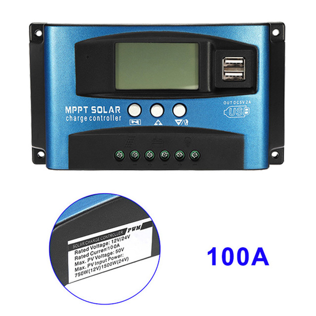 40A/50A/60A/100A MPPT Solar Panel Regulator Charge Controller 12V/24V Auto Focus Tracking Device LB88