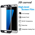 For s7edge s7 Edge Tempered Glass 3D Curved Full Cover Screen Protector For Samsung Galaxy s7edge S6 edge S6edge plus Clear