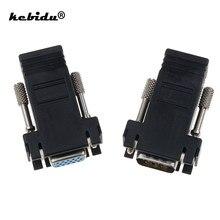 Kebidu – rallonge mâle femelle vers VGA, une paire d'adaptateur Ethernet RJ45 vers Lan Cat5 Cat5e pour PC portable