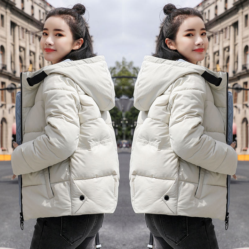 Winter Down Cotton Jacket Women   Parka   Coat Warm Thicken Hooded Short Jacket Outerwear Chaqueta Mujer Slim Women Winter Coat Z34