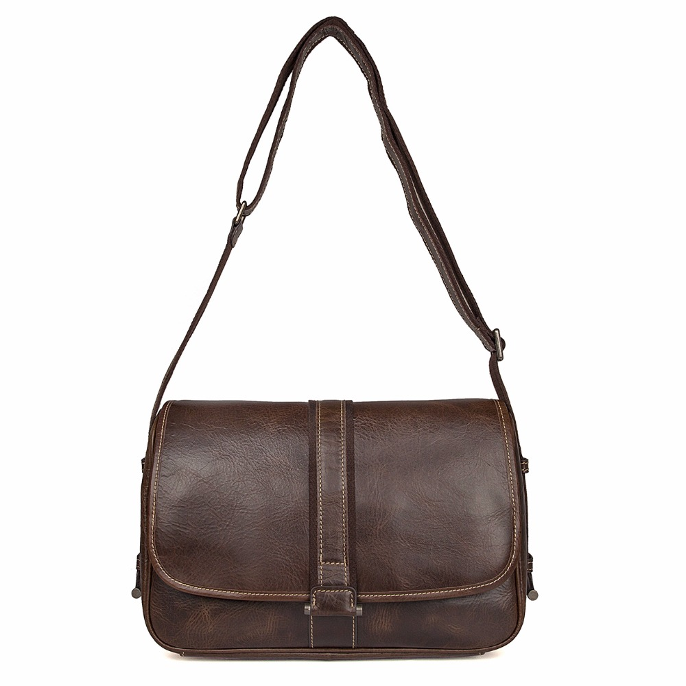 J.M.D Natural Real Cow Leather Cross Body Bag Fashional School Flap Bag Practical Messenger Bag Leather For Young 1030Q j m d first layer cow leather flap bag classic and fashional messenger bag tiny cross body bag for young 7109c