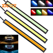1PCS 17cm COB LED DRL Driving Daytime Running Lights Strip 12V COB LED DRL Bar Aluminum Stripes Panel Car Working Lights(China)