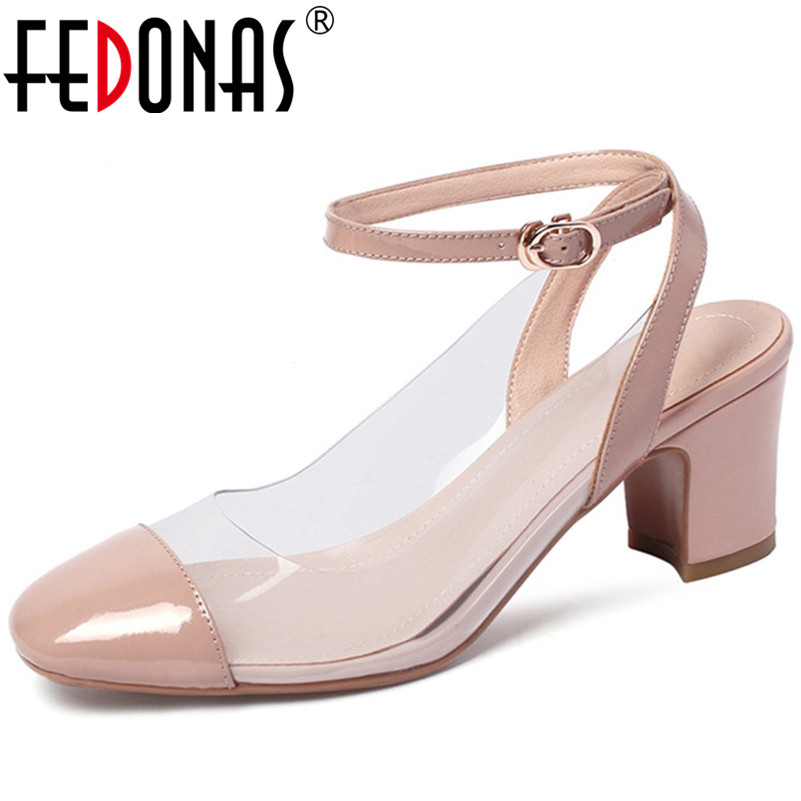 FEDONAS New Women 2019 Fashion Genuine Leather Spring Autumn Elegant High Quality High Heels Party Shoes Woman SandalsFEDONAS New Women 2019 Fashion Genuine Leather Spring Autumn Elegant High Quality High Heels Party Shoes Woman Sandals