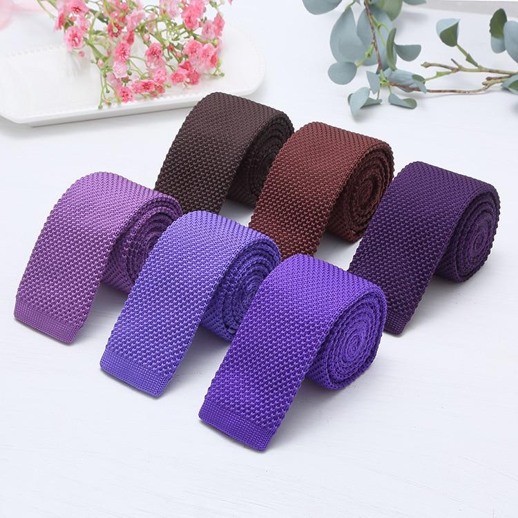 Fashion 6 Cm Men's Knit Tie Skinny Knitted Necktie Narrow Slim Gravatas Mens Wool Ties Knitting Tape Yarn Designers Candy Color