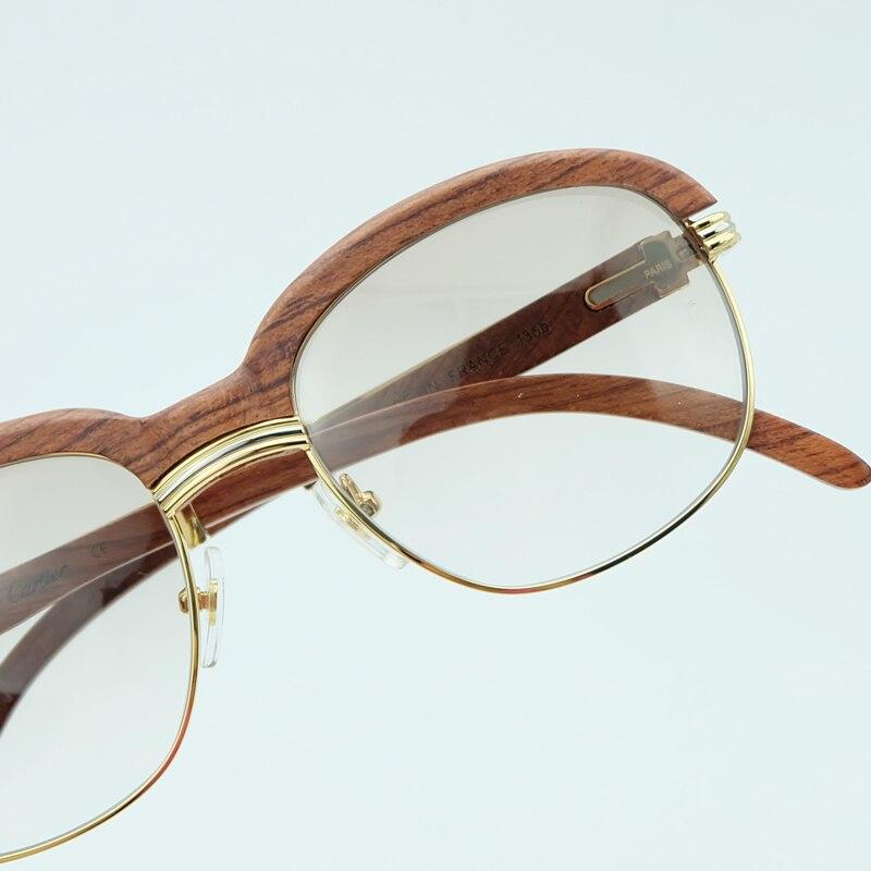 Holz Sonnenbrille Rahmen Holz Sonnenbrille Männer Rosa Sonnenbrille für Herren Fashion Shades Sonnenbrille Frauen Urlaub Zubehör - 4