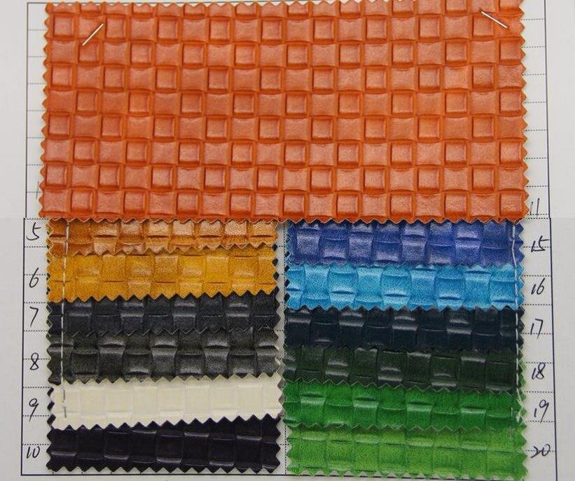 Ambitieus Fabriek Goedkope Supply Pvc Transparante Gekleurde Leer Handtassen Geweven Patroon Pleintjes Grain Leer Stof Goed Voor Energie En De Milt