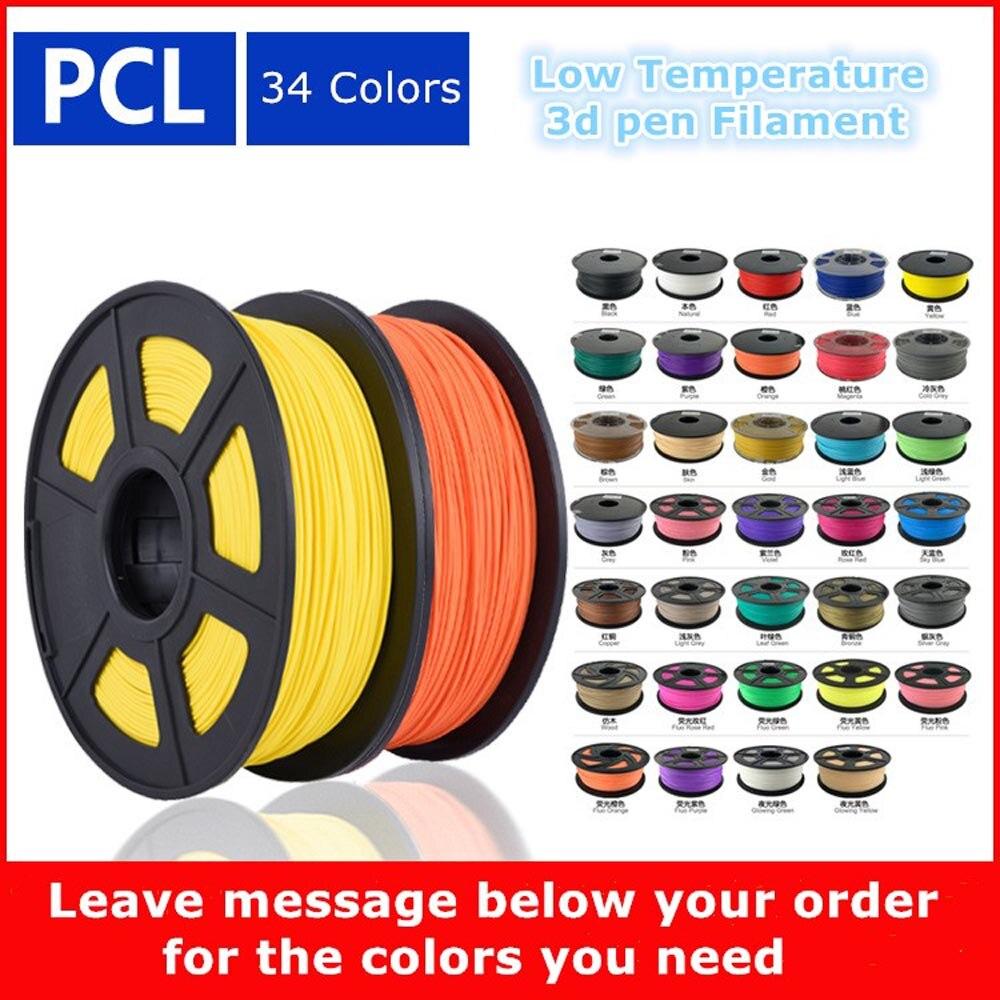 Sandipen PCL filament 1.75mm 1 kg haute qualité en plastique filament pcl 3d impression faible température 3d imprimante filament PCL02