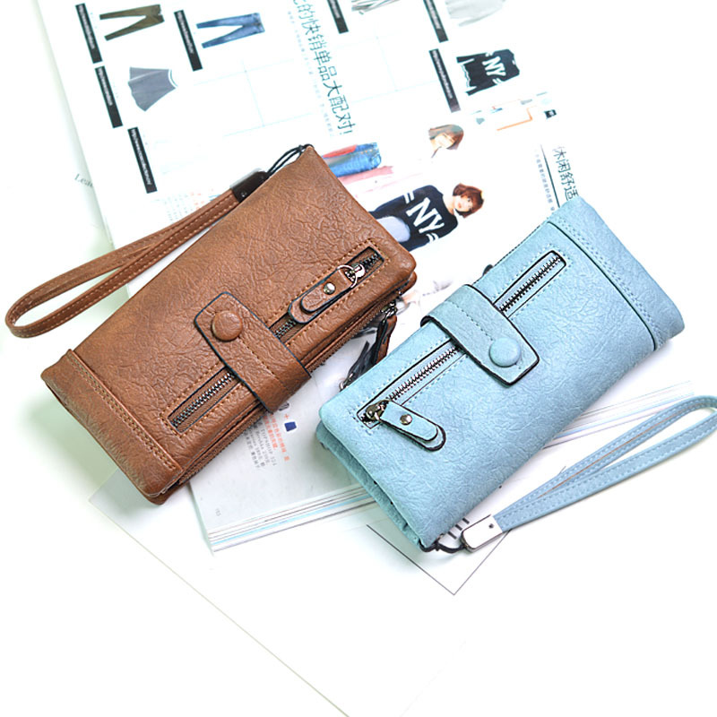 2018 Women Wallet Clutch PU Sorf Leather Brand Wallet Women Phone Clutch Bag Long Coin Purse Zipper Hasp Coin Card Holder Wallet brand wallet fashion women wallet double zipper female clutch purse froasted pu leather money case coin pocket card holder
