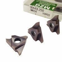MZG Triangle GBA43L100 GBA43L150 ZM856 Stainless Steel Shallow Grooving Cutter CNC Lathe Cutting Tools Solid Carbide Inserts