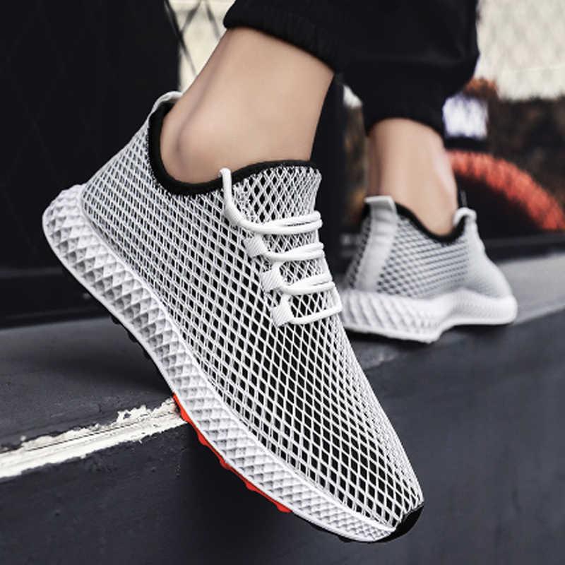 Mens Mesh รองเท้ารองเท้าฤดูร้อนรองเท้าผ้าใบแฟชั่น Casual รองเท้า Krasovki Light Tenis Masculino รองเท้ากลางแจ้ง