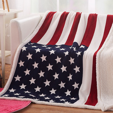Animal design sherpa blanket flag designs flannel throw adult warm sofa blanket double faces christmas snowscape moon flannel throw blanket
