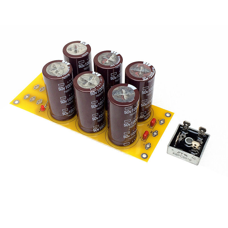 Amplifier Rectifier Filter Board 6* 50V 10000UF Nippon Chemi-Con Capacitor aoweziic 1 pcs 450v 10000uf 75 220 screw machine large electrolytic capacitor 10000uf 450v