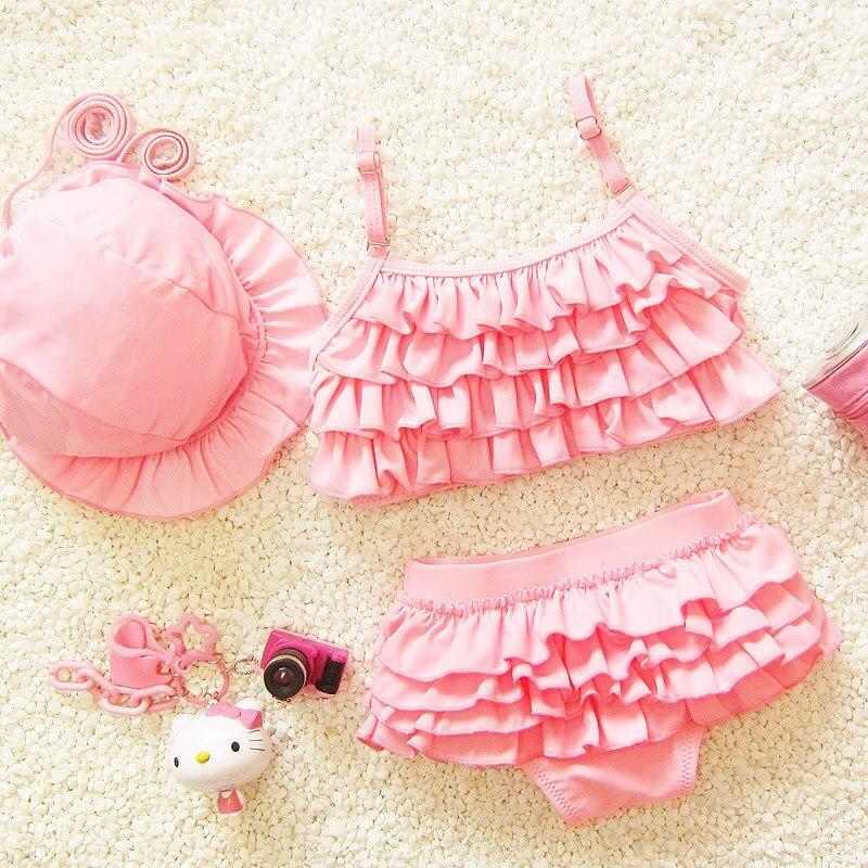 Bebê Maiô Menina do Biquini Menina 2-Pieces Swimsuit Rosa Roxo Azul 1 2 3 4 5 6 7 8 9 ano Infantil Da Criança Da Princesa Meninas Swimwear