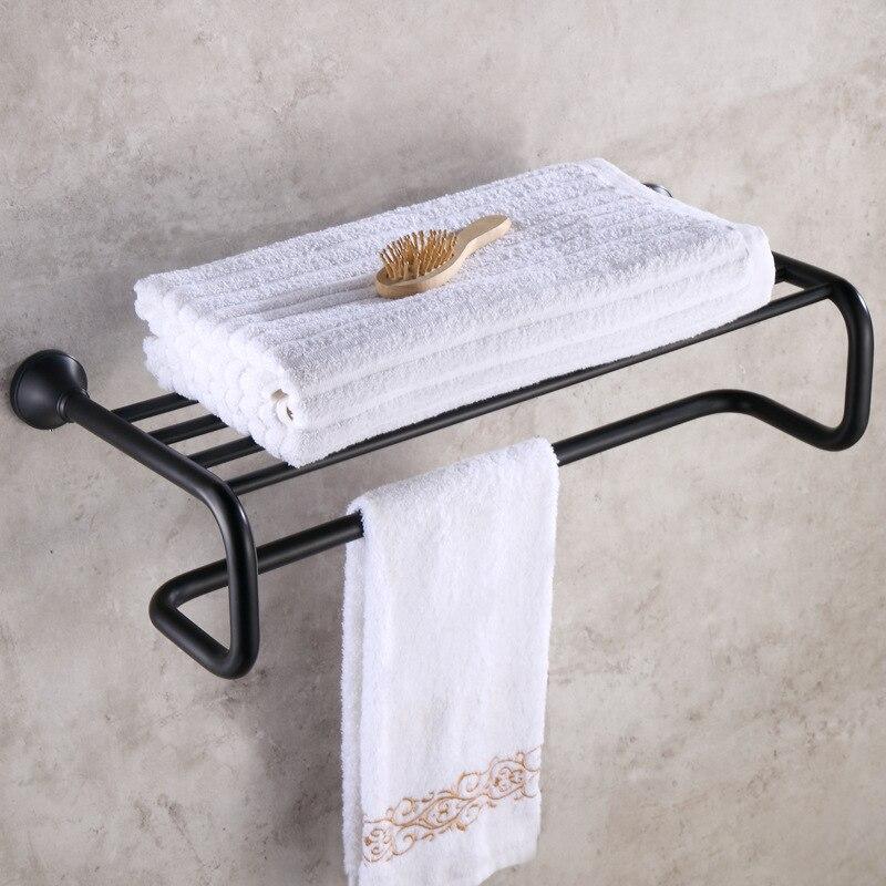 Aliexpress.com : Buy Luxury Black Wall Shelf Brass Bathroom Corner ...