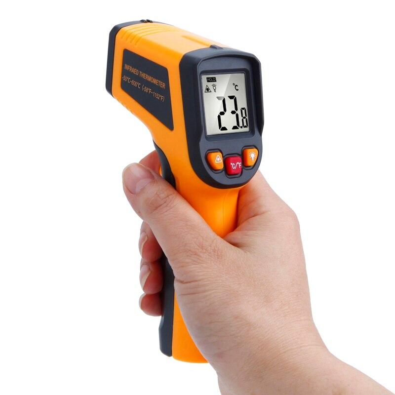 RICHMETERS 600 C Digitale laser Infrarot Thermometer Temperatur Gun Instrument Pyrometer