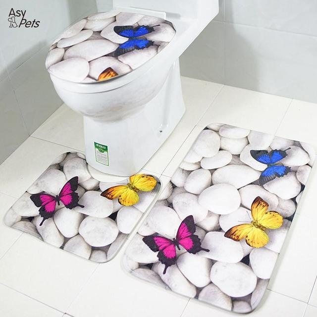 AsyPets 3 pz/set Farfalla di Pietra Bagno Antiscivolo Assorbimento di Acqua Morb