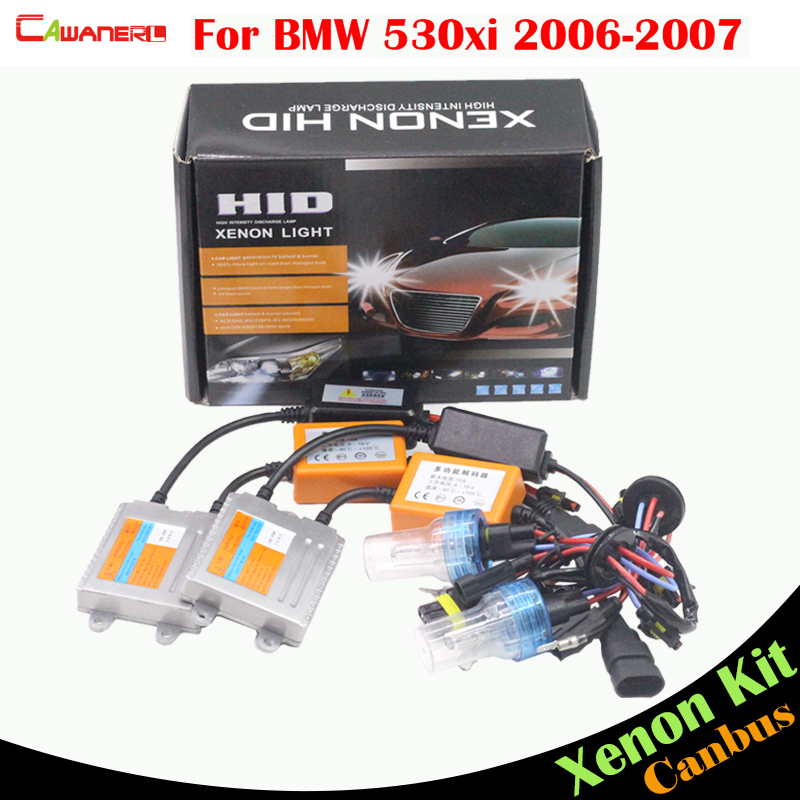 Cawanerl 55W H7 Auto Canbus Ballast Lamp HID Xenon Kit AC 3000K-8000K Car Light Headlight Low Beam For BMW 530xi 2006-2007 h6 motorcycle motor hid xenon kit bi motorcycle hid headlight bulbs universal motorbike hid light ballast lamp 12v auto