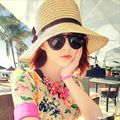 Nova Moda Chapéu de Sol Dobrável Chapéus De Palha do Verão das Mulheres Para As Mulheres Praia Headwear