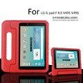 Портативный Дети противоударный выдерживает падения с высоты EVA горе стенд ручной чехол для LG G Pad 8.0 V495 V496 V498 8 дюймов Tablet