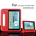 Portable Kids resistencia gota a prueba de golpes EVA caso de la cubierta de montaje del soporte de mano para lg g pad f 8.0 v495 v496 v498 8 pulgadas tablet
