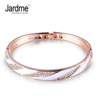Jardme Oil Drip Rose Gold Color Bracelet Jewelry Austrian Crystal Wholesale Hand Made Fashion Jewelry Pulse