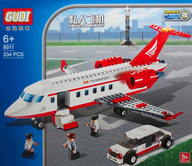 GUDI Avion jouet Building Block 334 pcs Série Aérospatiale Privé - Concepteurs et jouets de construction - Photo 5