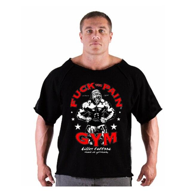 d785d32c6cf bodybuilding!New Men Golds T Shirts fitness men Muscle US Captain Print  wear shirt Brand Vests cotton Gyms Clothing workout Tops