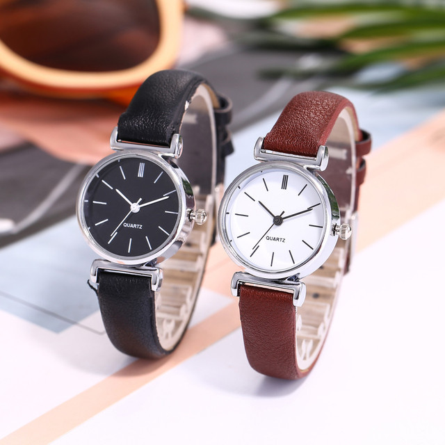 Relogio Feminino 2018 Fashion vansvar Watch Women Casual Quartz Leather Band New