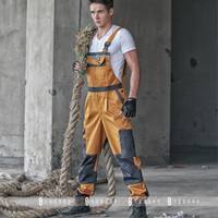 High quality Durable Work Wear Bib Pants Men's Tooling Uniform Jumpsuits Loose Casual Overalls