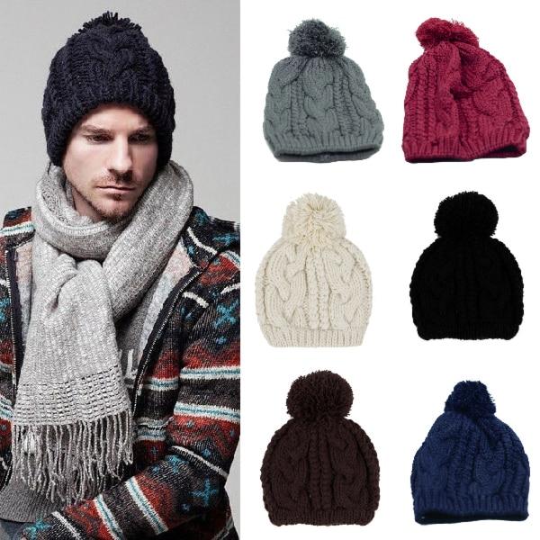 8afeebb433ba8 Mujeres y hombres moda invierno caliente de lana gorros tejidos de esquí de  lana sombreros 7 colores H3296 en Disfraces juegos hombre de La novedad y  de uso ...