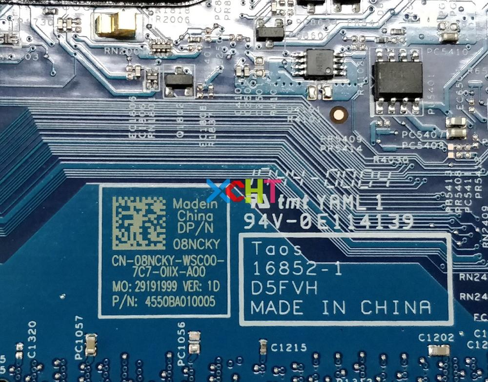 Image 5 - for Dell Latitude 3480 CN 08NCKY 08NCKY 8NCKY i5 7200U 16852 1 D5FVH 216 0867071 Laptop Motherboard Mainboard Tested-in Laptop Motherboard from Computer & Office
