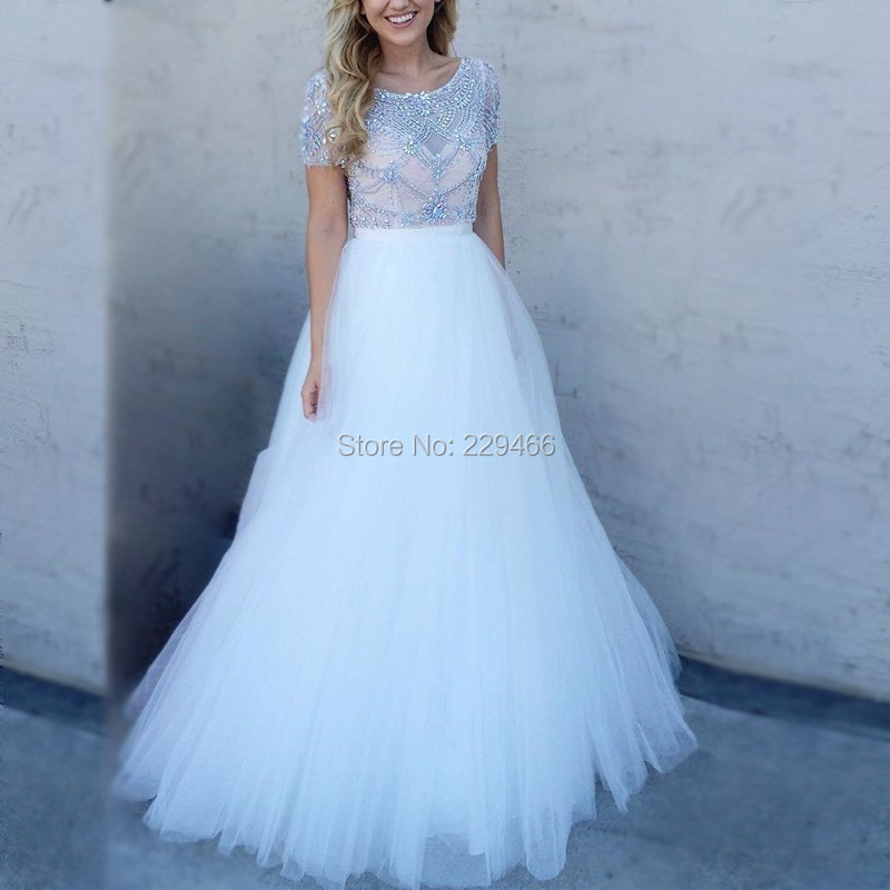 Real-Photos-Ivory-Color-Crystal-Short-Sleeves-Ball-Gown-Formal-Long-Prom-Dress-Evening-Party-OL102911 (2)