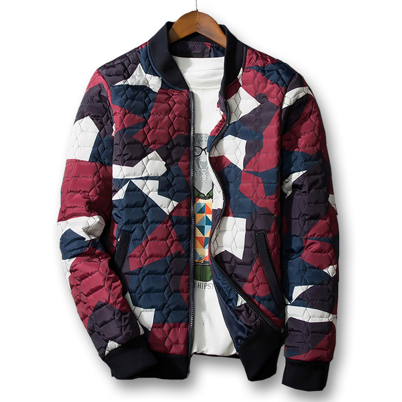 2017 New Mens Winter Jackets Mens Thick Parka Men Coat Winter Casual & Fit Thick Man Cotton Jacket printing Large size 5XL