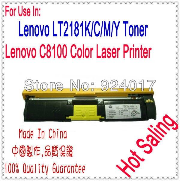 ФОТО Toner Cartridge For Lenovo C8100 Printer,Use For Lenovo 8100 Toner Reset,Use For Lenovo Toner LT2181K  LT2181C LT2181M LT2181Y