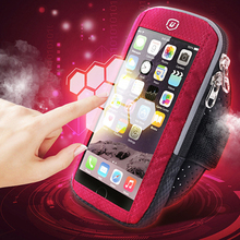 Touch Screen Sports Arm Phone Bag Running Mobile Armband Jogging Gym Band Dual Layer Pocket Cellphone Case