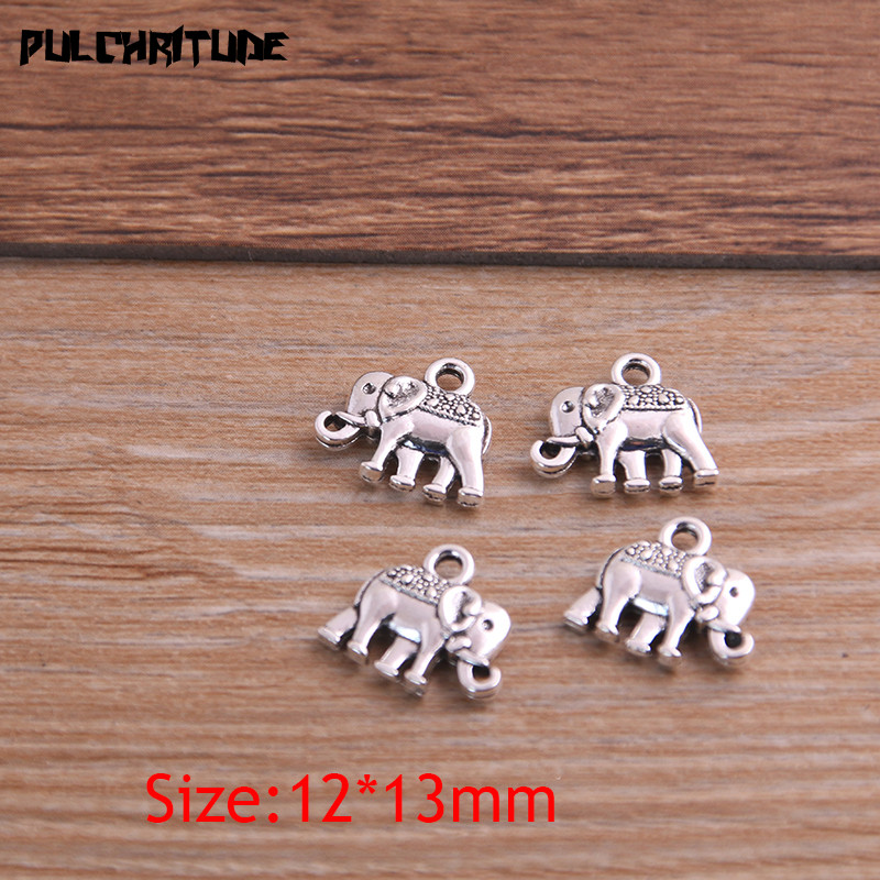 20pcs 12*13mm Three Color Metal Zinc Alloy Small Elephant Charms Fit Jewelry Animal Pendant Charms Makings 4