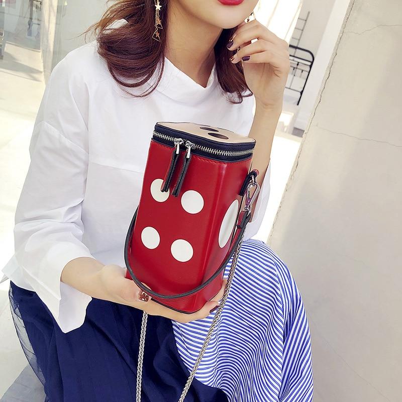 Women\'S Handbag Pu Leather Bucket Bag Personality Women Shoulder Messenger Bag Luxury Evening Handbag Casual Travel Bags