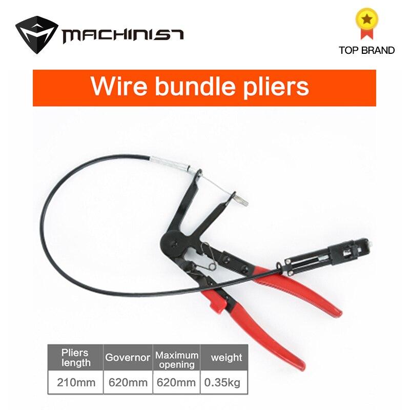 Hose Clamps Pliers Clip Clamp Pliers Cable Flexible Automotive Hose Clamp Wire Long Pliers Straight Throat Tube Bundle Clamp