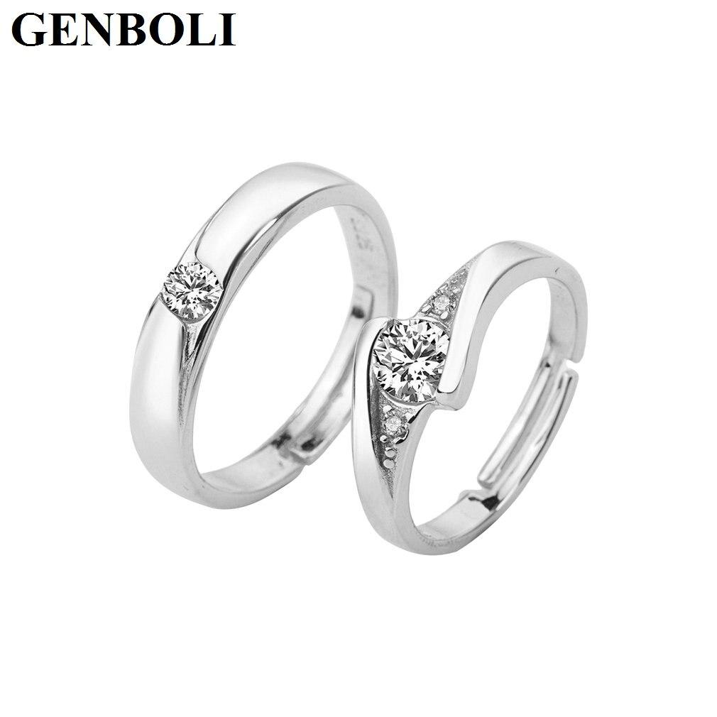 Модные свадебные Кольца для Для женщин и Для мужчин золото-цвет элегантный любителей пара Promise Ring Юбилей ювелирные изделия