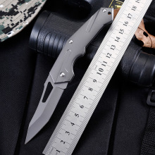 цена Tactical 58HRC High Hardness 5Cr13 Blade Aviation Aluminum Handle Folding Knife Outdoor Camping Hunting Survival Tool онлайн в 2017 году