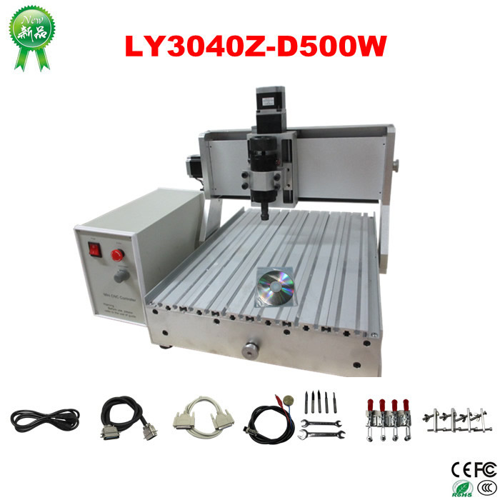 3040Z-D 500W CNC Router CNC 3040 Engraving machine for wood, metal, aluminum working, no tax to Russia country free ship to russia no tax cnc 3040z s cnc engraving machine cnc router 3040 series water cooled engraver