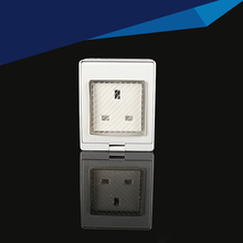 2PCS IP55 Report CE Wall Waterproof Dust-proof British Power Socket, 13A UK Standard Electrical Outdoor Outlet Grounded